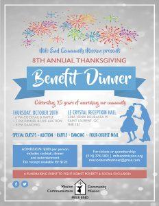 Benefit Dinner Poster
