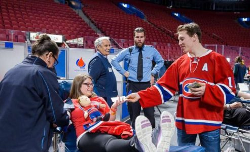 The Montreal Canadiens and Evenko blood drive