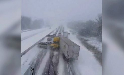Highway 401 Collision Pileup Caught on video
