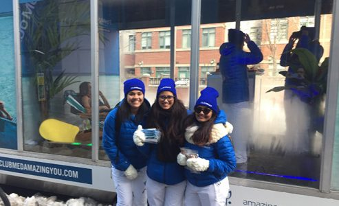 Club Med Pop-up paradise at Younge-Dundas Square in Toronto #ClubMedAmazingTO