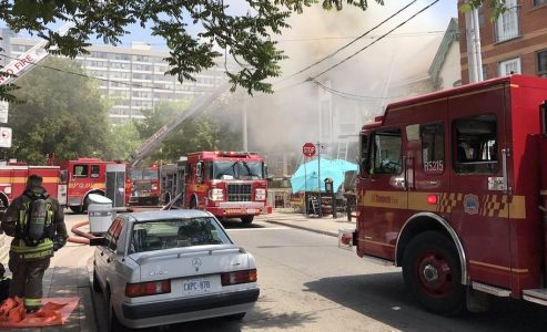 Downtown Toronto Restaurant Ryus Noodle Bar Burns In Flames