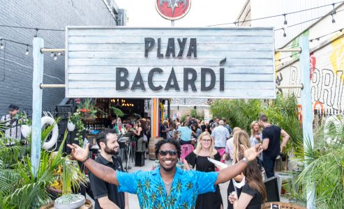 Cool Cocktails Kick Off Summer at Playa Bacardi's Pop-Up Island Bar