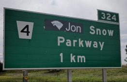 Ontario Highway, West of Toronto, Sees Exit Sign Name Changed To 'Jon Snow Parkway'