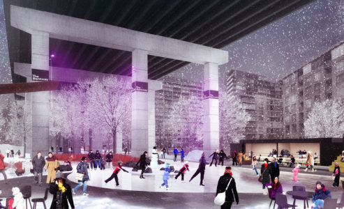 Skate for free at Gardiner Expressway's skate trail