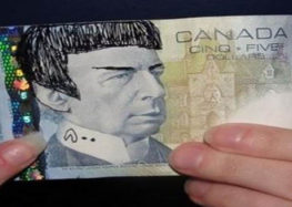'Spocking' on Canadian $5