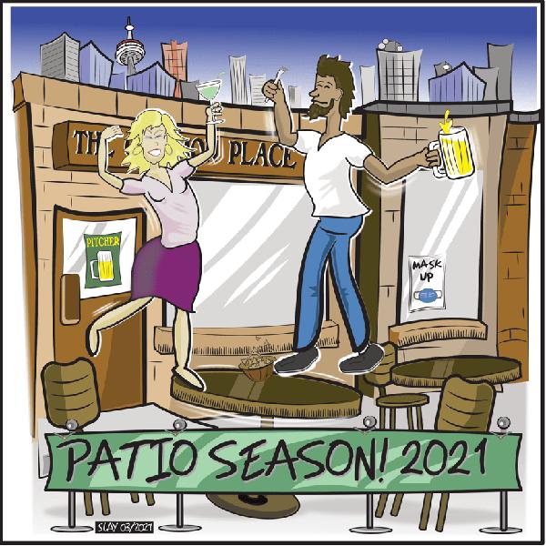 Views from the 6ix Patio season cartoon
