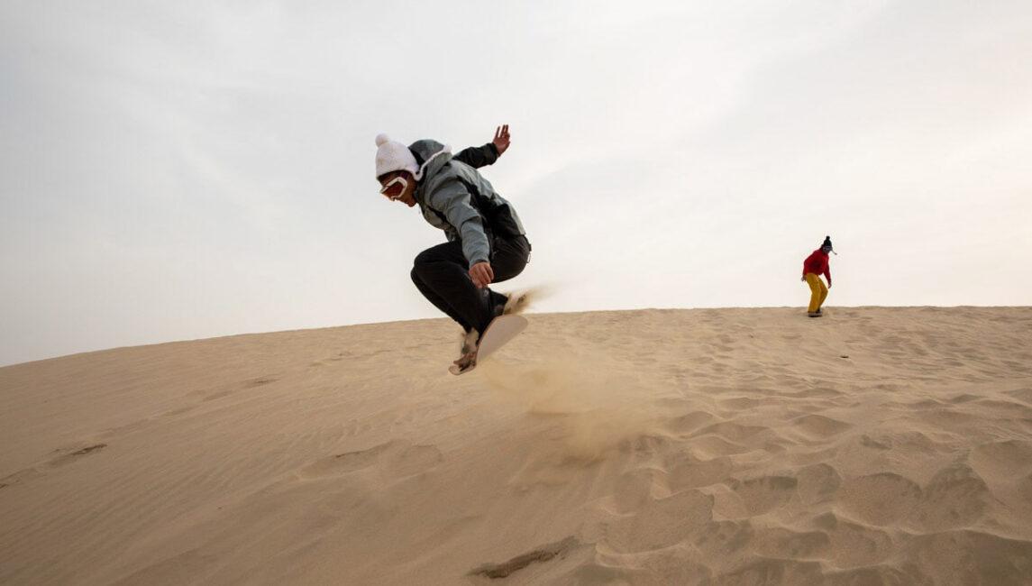 Snowboarding in Qatar