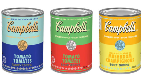 Find Warhol inspired Campbell's soups across Canada right now