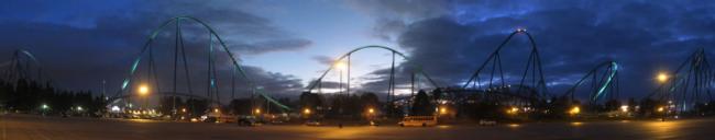 Leviathan at night