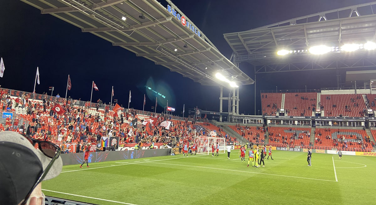 Toronto FC play first home game since pandemic