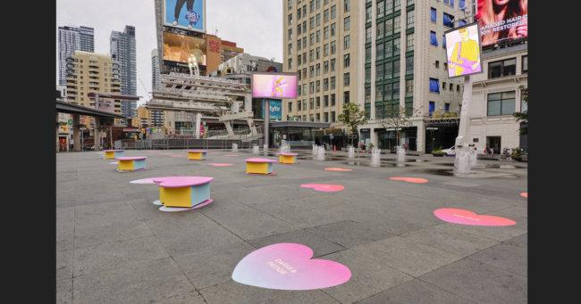 Show your love for Toronto in Yonge-Dundas Square
