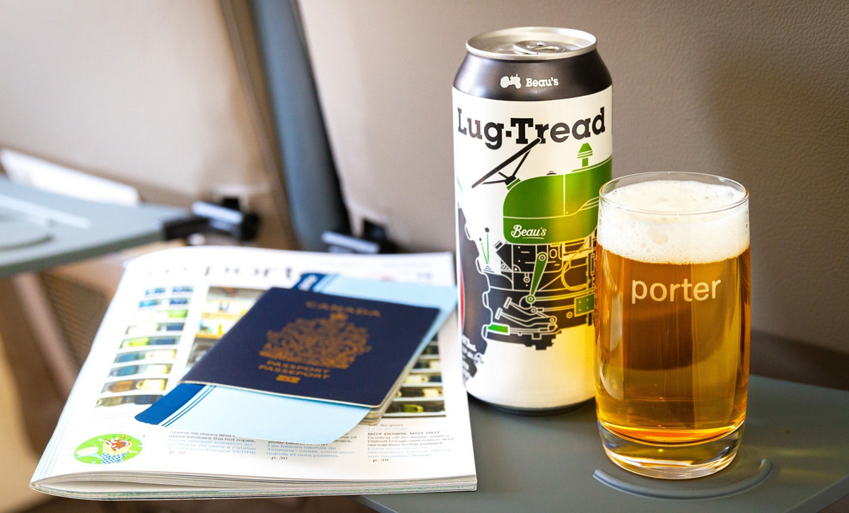 Porter Airlines parnters with Beau's Brewing