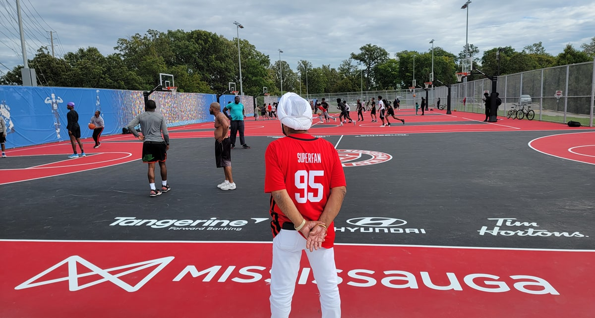 Raptors Superfan Nav Bhatia launches 4 new courts in Mississauga