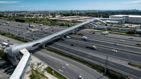 Pickering pedestrian bridge holds Guinness record for longest pedestrian bridge