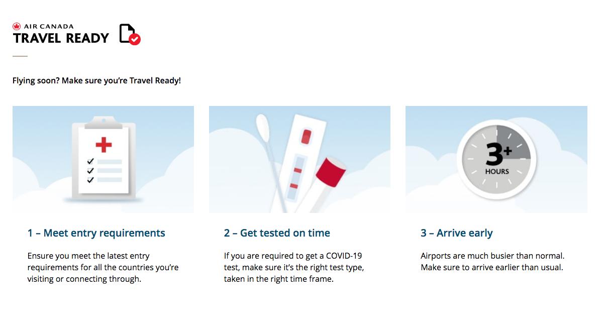 Air Canada unveils Travel Ready hub