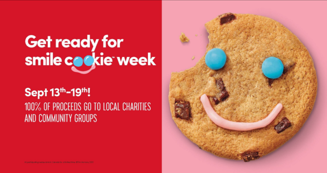 Tim Hortons annual Smile Cookie campaign is back today, celebrating 25 years of supporting local charities and community groups across Canada